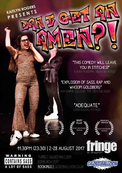 Can I Get An Amen Poster - Edinburgh Fringe